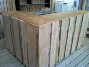 bar - comptoir en bois
