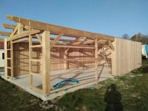 abri stockage structure bois douglas