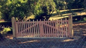portail bois douglas 87