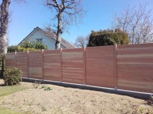 clôture panneaux douglas 87