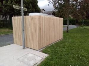 clôture jointive châtaignier