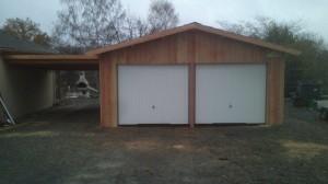 Abri garages en douglas 87