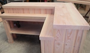 comptoir en bois douglas 87