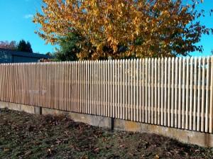 clôture semi jointive châtaignier