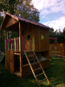 cabane enfants sur pilotis bois douglas 87