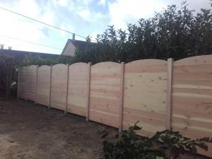 clôture panneaux bois