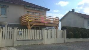 terrasse suspendue bois douglas 87