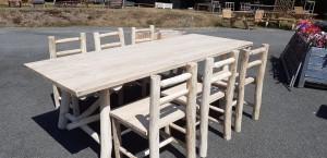 table + chaises châtaignier 87