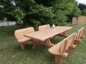 table extérieur en bois 87