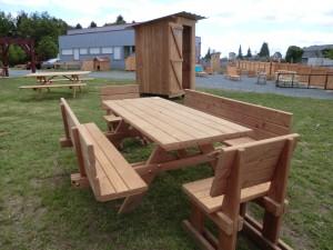 table bois extérieur 87