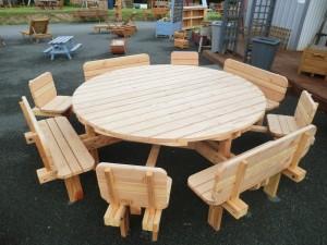 grande table extérieur bois 87