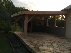 Pergolas abri 1 pan effet toit plat